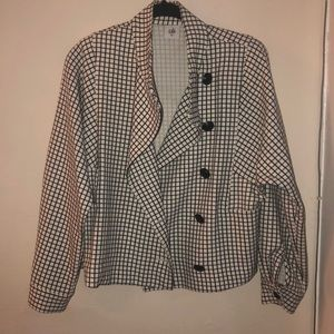 Cabi windowpane jacket XS